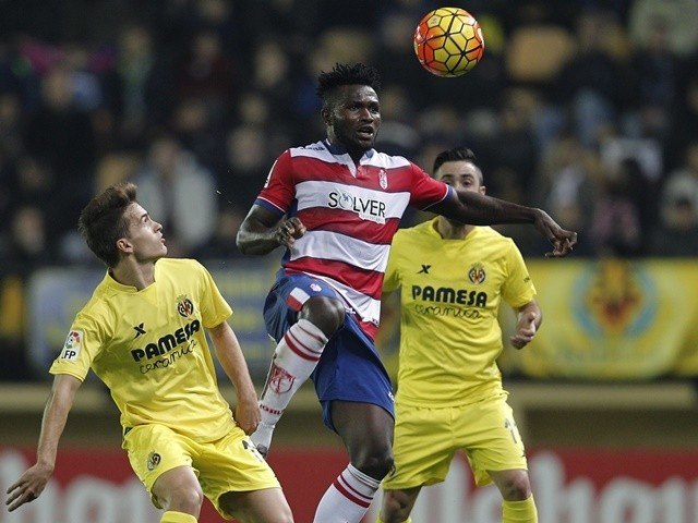 Granada's Nigerian forward Isaac Success in action on January 30, 2016