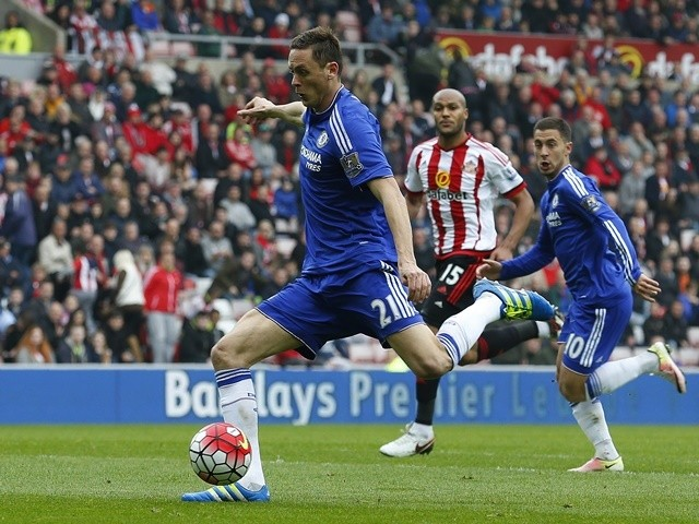 Nemanja Matic scores during the Premier League match between Sunderland and Chelsea on May 7, 2016