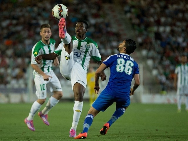Patrick Ekeng in action on August 6, 2014