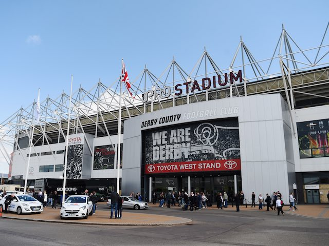 A general view outside of the iPro prior to the Championship playoff semi-final between Derby County and Hull City on May 14, 2016