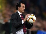 Unai Emery during the Europa League final between Liverpool and Sevilla on May 18, 2016