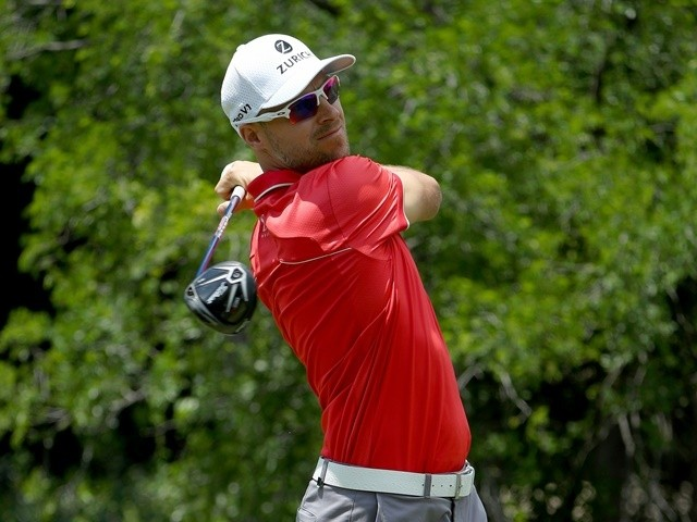 Ben Crane plays his shot from the 12th tee during round two at the AT&T Byron Nelson on May 20, 2016