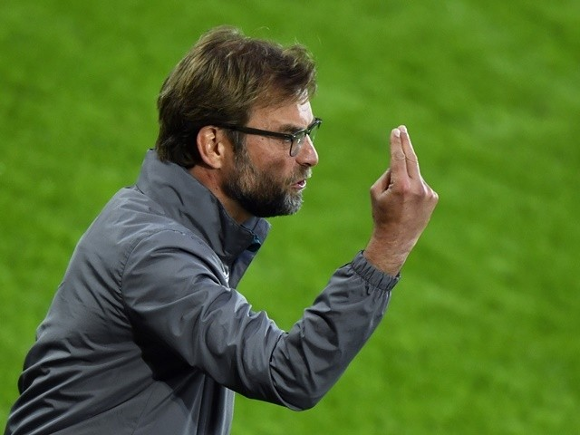 Jurgen Klopp gestures during the Europa League final between Liverpool and Sevilla on May 18, 2016