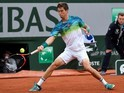 Aljaz Bedene in action during the French Open on May 28, 2016