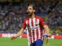 Yannick Carrasco celebrates his equaliser during the Champions League final between Real Madrid and Atletico Madrid on May 28, 2016
