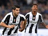 Alvaro Morata celebrates after scoring during the Coppa Italia final between AC Milan and Juventus on May 21, 2016