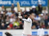 Moeen Ali celebrates his 150 during day two of the second Test between England and Sri Lanka on May 28, 2016