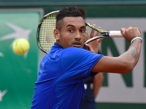 Nick Kyrgios in action at the French Open on May 27, 2016