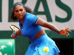 Serena Williams in action at the French Open on May 26, 2016