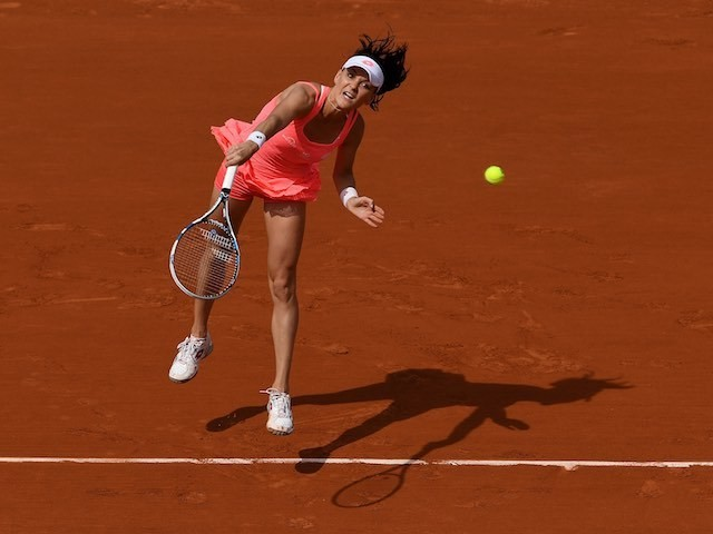 Agnieszka Radwanska in action at the French Open on May 27, 2016