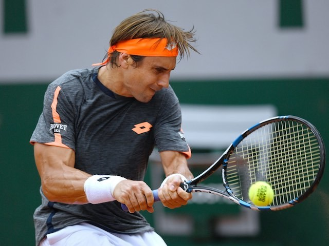 David Ferrer in action during the French Open on May 28, 2016