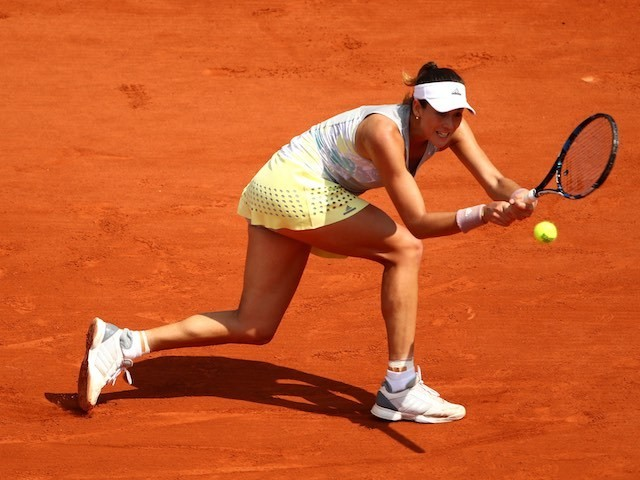 Garbine Muguruza in action at the French Open on May 27, 2016