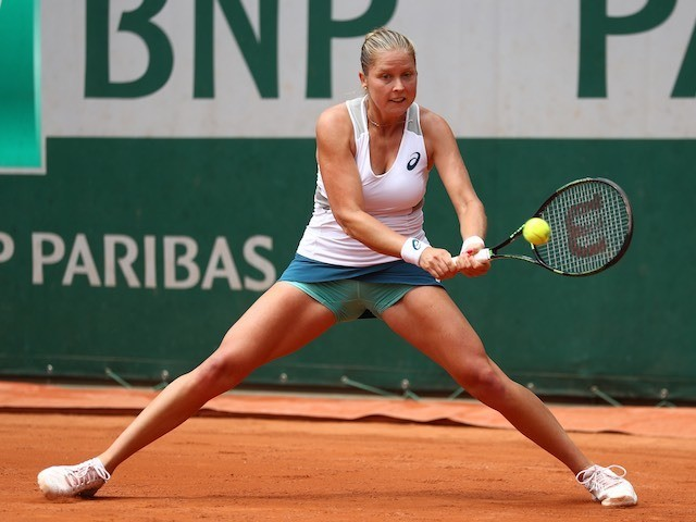 Shelby Rogers in action at the French Open on May 27, 2016