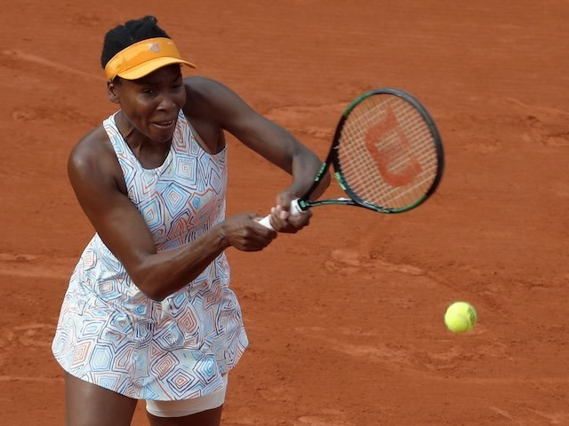 Venus Williams in action during the second round of the French Open on May 26, 2016