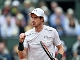 Andy Murray reacts during the French Open final against Novak Djokovic on June 6, 2016