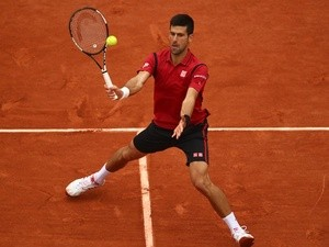 Novak Djokovic in action against Andy Murray in the French Open final on June 5, 2016