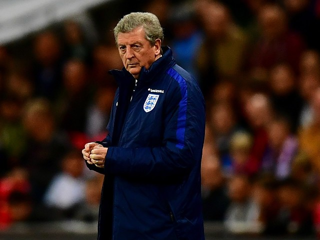 Roy Hodgson manager of England looks thoughtful during the international friendly match between England and Portugal at Wembley Stadium on June 2, 2016 in London, England