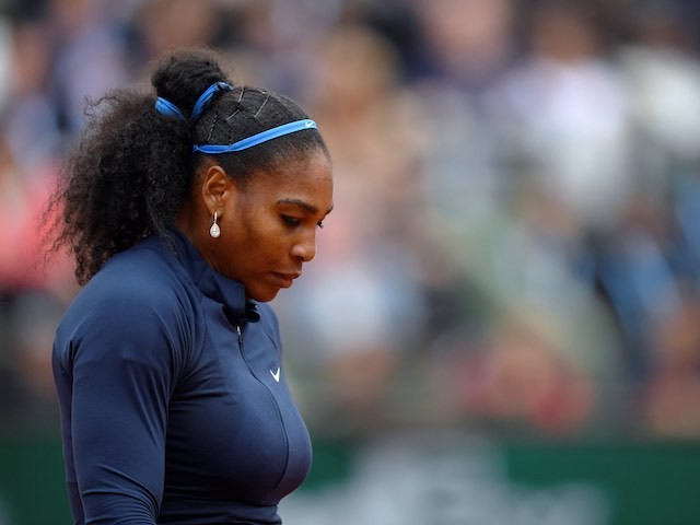 Serena Williams looks deflated after losing the French Open final to Garbine Muguruza on June 4, 2016