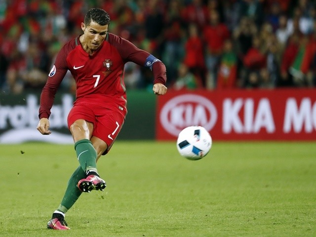 Cristiano Ronaldo during the Euro 2016 Group F game between Portugal and Iceland on June 14, 2016