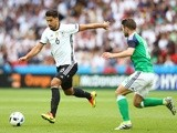 Sami Khedira and Oliver Norwood in action during the Euro 2016 Group C match between Northern Ireland and Germany on June 21, 2016