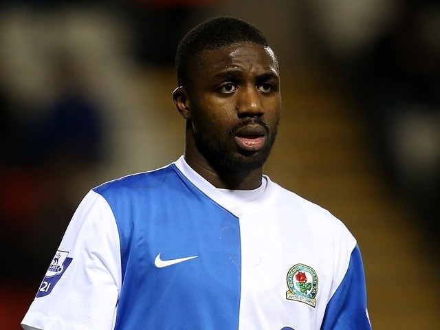 Yann Songo'o of Blackburn Rovers U21 during the Barclays U21 Premier League match between Blackburn U21 and Manchester United U21 at Leigh Stadium on December 02, 2013