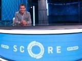 Mark Pougatch on the set of BT Sport Score
