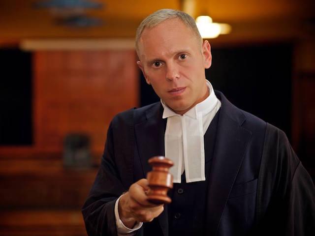 Judge Rinder appearing on the TV show 'Judge Rinder'