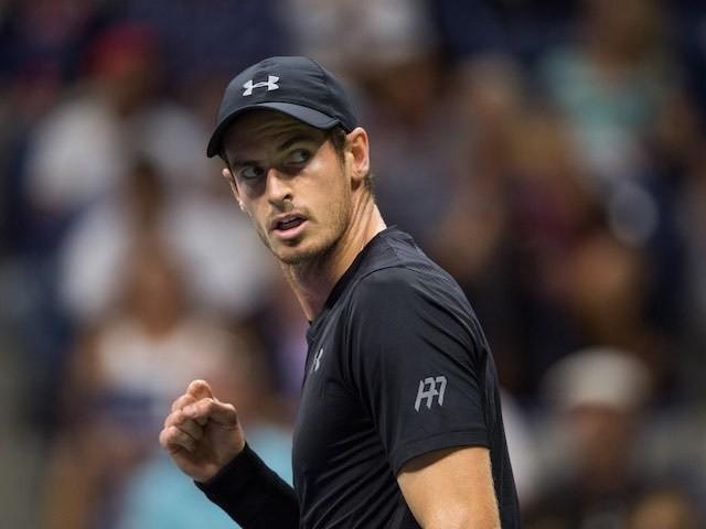 Andy Murray in action at the US Open on August 30, 2016