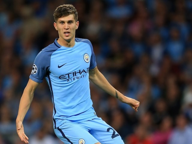 John Stones in action for Manchester City on August 24, 2016