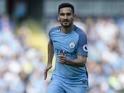 Ilkay Gundogan in action for Manchester City on September 17, 2016