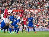 Paul Pogba scores during the game between Manchester United and Leicester City on September 24, 2016