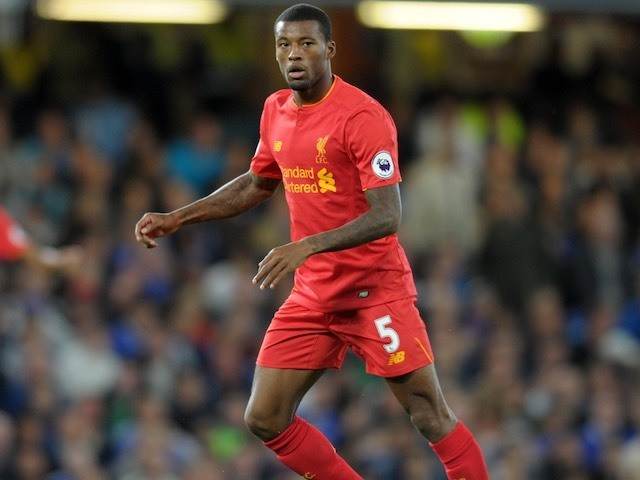 Georginio Wijnaldum in action for Liverpool on September 16, 2016