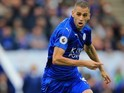 Islam Slimani in action for Leicester City on September 17, 2016