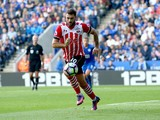 Southampton striker Charlie Austin in action during his side's Premier League match against Leicester City at the King Power Stadium on October 2, 2016