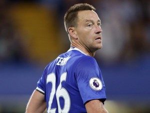 John Terry of Chelsea during the Premier League match between Chelsea and West Ham United at Stamford Bridge on August 15, 2016