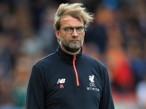 Liverpool manager Jurgen Klopp serves up some side-eye on September 24, 2016