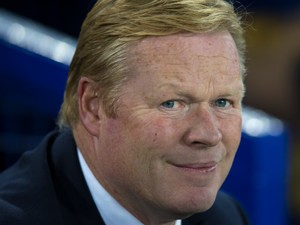Everton manager Ronald Koeman looks on during his side's 1-1 draw with Crystal Palace at Goodison Park on September 30, 2016