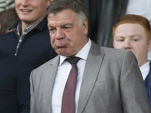 Sam Allardyce pouts his lips on September 10, 2016