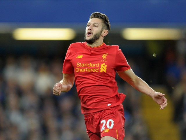 Liverpool's Adam Lallana during the Premier League match between Chelsea and Liverpool at Stamford Bridge on September 16, 2016