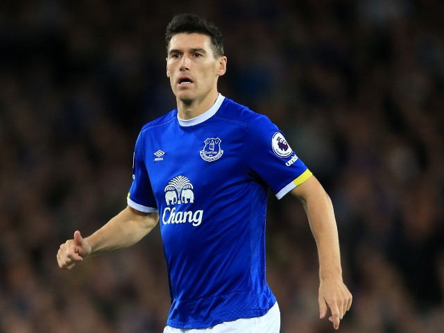 Everton midfielder Gareth Barry in action during his side's 1-1 draw with Crystal Palace at Goodison Park on September 30, 2016