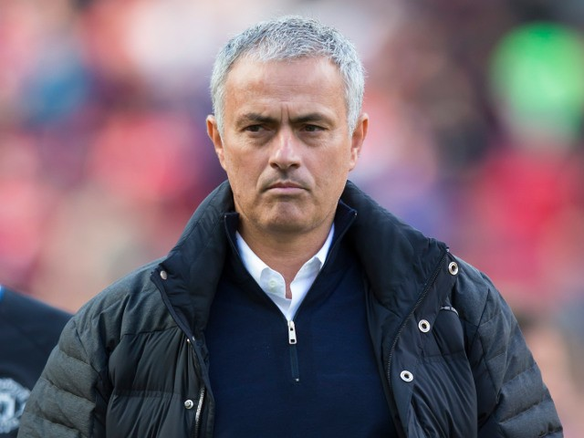 Manchester United manager Jose Mourinho before his side's Premier League match with Stoke City at Old Trafford on October 2, 2016