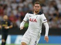Tottenham Hotspur striker Vincent Janssen in action during his side's Champions League clash with AS Monaco at Wembley Stadium on September 14, 2016