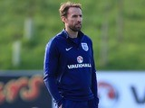 Interim manager Gareth Southgate watches on during England training on October 4, 2016