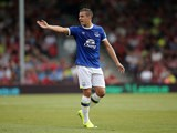 Everton captain Phil Jagielka in action during the Premier League match against Bournemouth at the Vitality Stadium on September 24, 2016