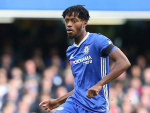Chelsea midfielder Nathaniel Chalobah in action during his side's Premier League clash with champions Leicester City at Stamford Bridge on October 15, 2016