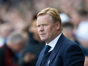 Everton manager Ronald Koeman looks on during his side's 1-1 draw with Man City at the Etihad Stadium on October 15, 2016