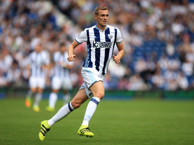 West Bromwich Albion captain Darren Fletcher in action during the Premier League match against Middlesbrough at The Hawthorns on August 28, 2016