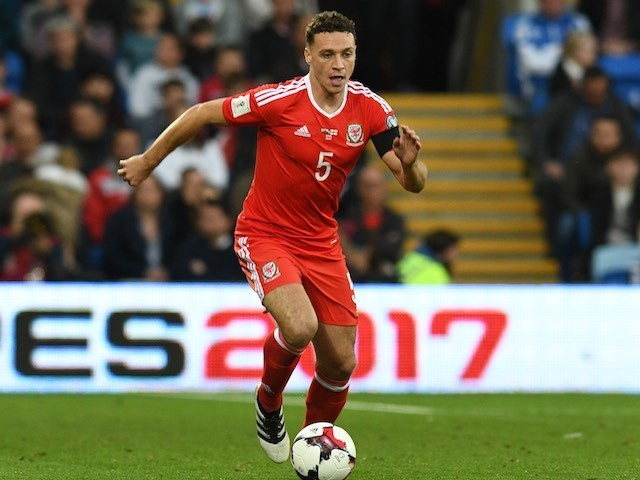 James Chester in action during the World Cup qualifier between Wales and Georgia on October 9, 2016