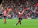 Nathan Redmond celebrates during the Premier League match against Burnley at St Mary's Stadium on October 16, 2016