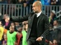 Pep Guardiola during the Champions League match between Barcelona and Manchester City on October 19, 2016